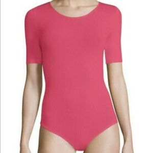 Wolford Tops - WOLFORD BAHAMAS BODYSUIT IN PINK